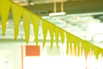 Make your own pennant banner for an easy party decoration.