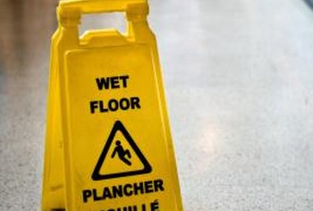 Janitors use a variety of cleaning chemicals to provide a safe, clean environment.