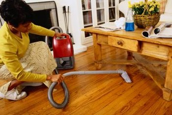 Vacuuming helps remove loose mold and mildew from many surfaces.