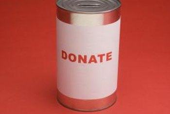 Donations should be accounted for in various ways.