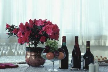 An eye-catching centerpiece sets the mood for the room.