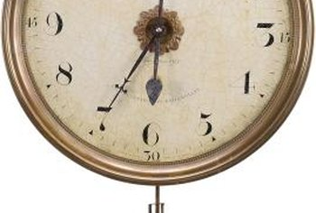Special care is necessary to transport a wall clock that has a pendulum.