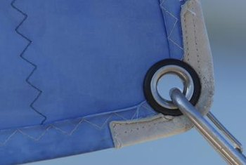 Grommets are used on sails and curtains for attachment.