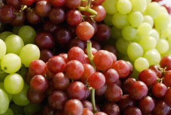 Grapes can be used to make jelly, wine or juice.