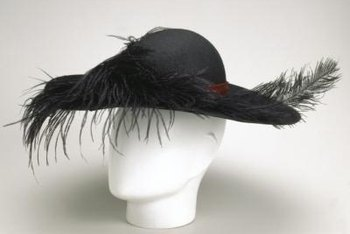 Display a vintage hat on a head form to offer added realism.