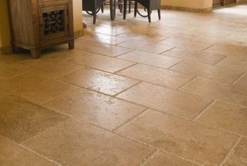 Sealant provides protection and a finished look for stone tile.