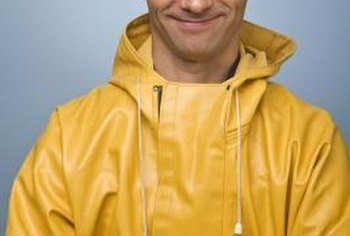 Wear a water-resistent parka when fixing roof leaks in the rain.