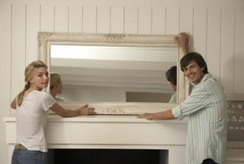 Large mirrors need to be supported by studs in the wall to stay securely in place.
