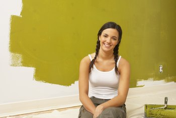 Painting over a bright paint color with a wash can add just the effect you want.