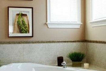 Some faucets are installed on the wall, and some on tub edges.