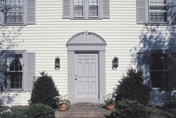 A front door that gets a lot of sun needs to be protected with a high-quality exterior paint.