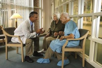 Nursing home doctors often meet with patients once each month.
