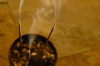 Incense helps create a meditative temple environment at home.