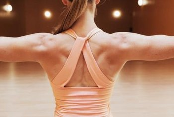 Toning the back, shoulders and neck encourages better posture.