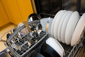 Use the proper detergent in a dishwasher.