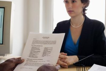 Expect to review your resume during a job interview.