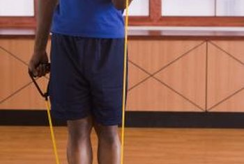 Resistance bands increase tension as they're stretched.