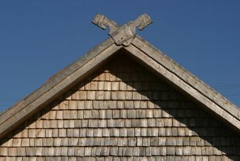 It is helpful to visualize the gable as two right triangles arranged back to back.