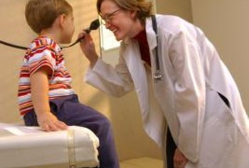 A variety of medical jobs involve working with children.