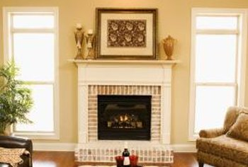 Reversing ceiling fans helps to distribute heat from fireplaces in the winter.