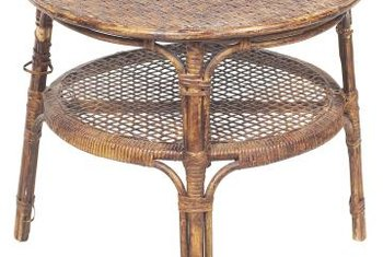 Vintage rattan can be hard to find and is worth the effort to repair and refinish.