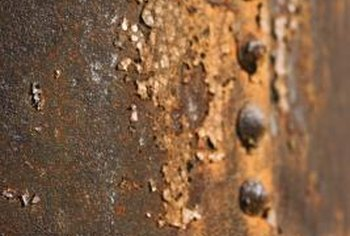 Heavy rust often accompanies pits in metal.
