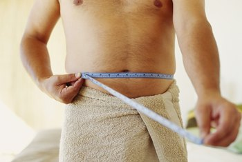 Measuring your tummy helps keep track of your progress.