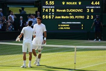 The tiebreak is used to decide tie scores in many tennis matches.
