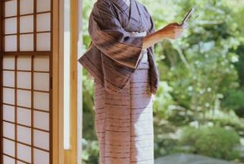 The shoji screen makes a perfect partition for a relaxing space.