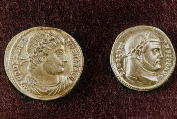 Roman coins circulated as a part of the republic's economy.