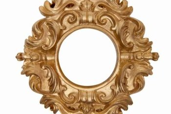 With practice, you can gold leaf even an ornate picture frame.