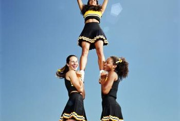 Stunting in cheerleading requires upper-body strength and muscular endurance.