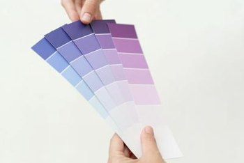 Purples that look light on color cards can look dark on walls.