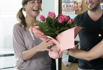 Flowers may not be acceptable gifts under some office policies.