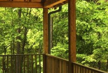 Deck railings can separate slightly as they weather.