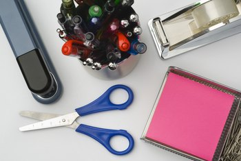 Basic office supplies are one example of common business product purchases.