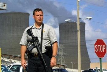 Most civilian nuclear power plants are heavily guarded by well-armed personnel.