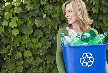 Keep bottles out of the recycling bin by turning them into planters.