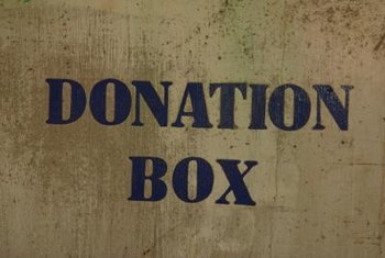 Care must be taken determining the value of donated goods.