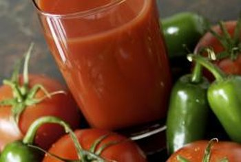 Tomato juice's lycopene, potassium and vitamin C content supports brain function.