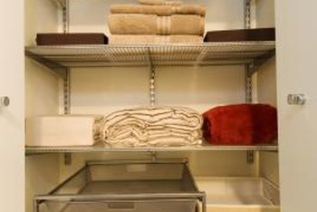 Repurpose a rarely used closet into your craft space.