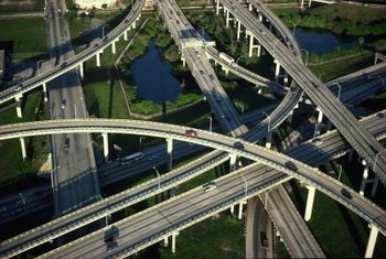 Civil engineering projects include planning and designing interstate bridges and interchanges.