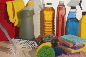 Workplace chemical dangers include health risks from cleaning products.