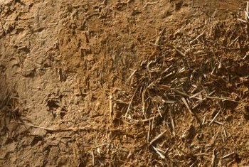 Clay soil is mucky when wet and hard as a rock when dry.