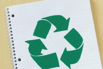 Use recycled paper to go green.