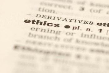Developing organizational ethical standards requires education of all members.