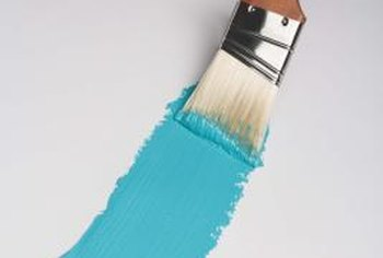 A dirty paintbrush can be frozen until the next time you need it.