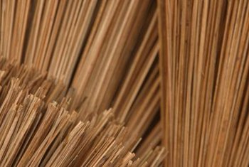 Many old-fashioned brooms were made with broomcorn.