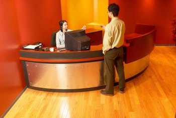 Receptionist or data entry jobs are sometimes filled through temp agencies.