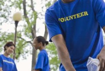 The structure of a charity can include positions for volunteers.